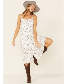 Cotton & Rye Outfitters Women's Ivory Floral Button-Front Sundress, Ivory, hi-res