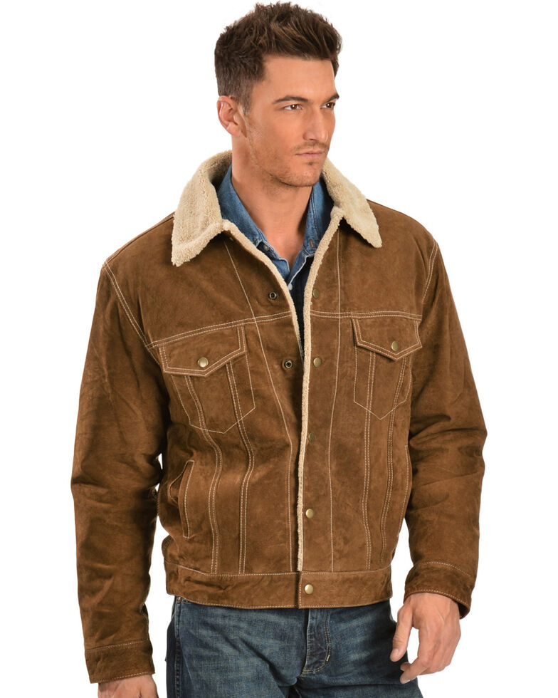 Suede Jacket Outfits For Men 20 Ways To Wear A Suede Jacket: Scully Sherpa Lined Boar Suede Jacket