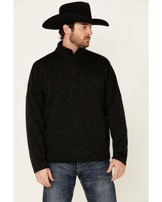 Ariat Men's Solid Charcoal Wesley 1/4 Zip Fleece Pullover , Charcoal, hi-res