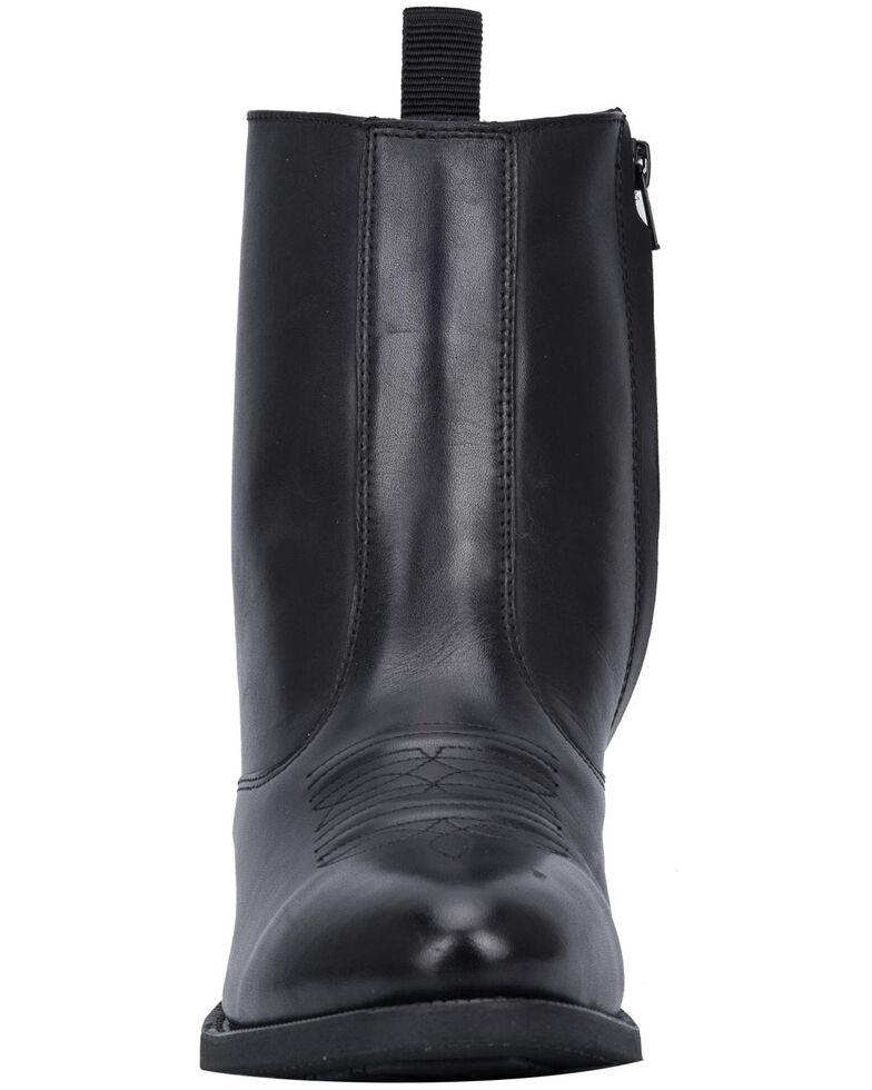 Laredo Men's Antique Black Side Zipper Western Boots - Round Toe, Black, hi-res