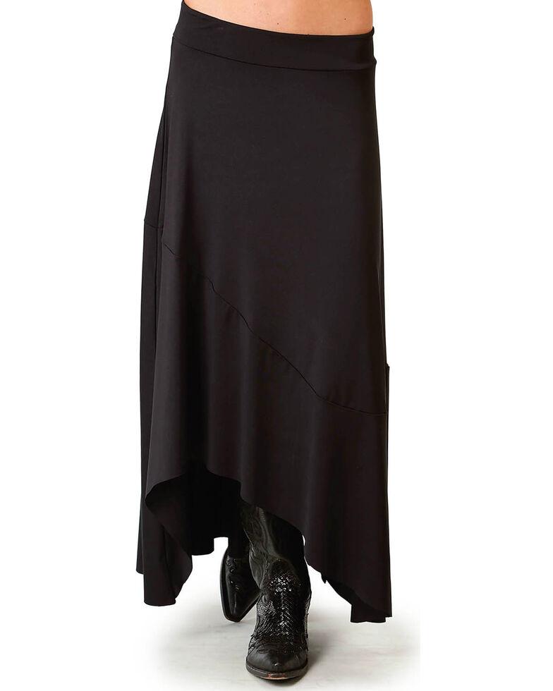 Roper Women's Black Pieced Hi-Lo Skirt, Black, hi-res