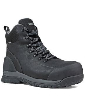 Bogs Men's Black Foundation Waterproof Work Boots - Composite Toe, Black, hi-res