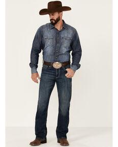 Rock 47 By Wrangler Men's Cash Medium Wash Stretch Slim Bootcut Jeans , Blue, hi-res