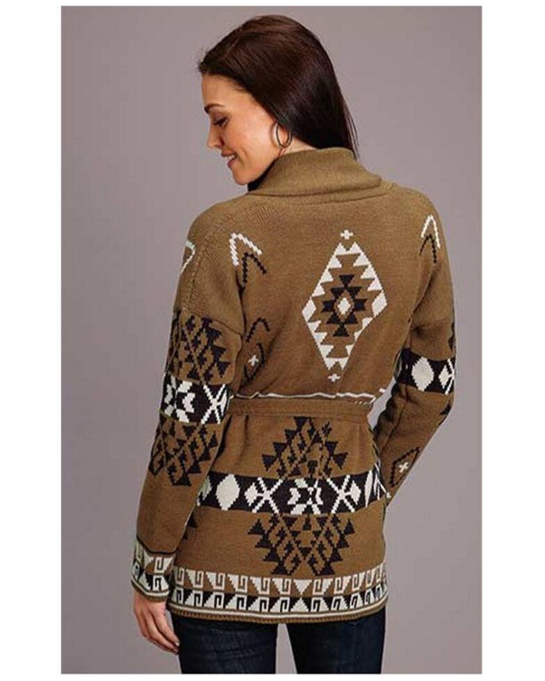 Stetson Women's Aztec Sweater Cardigan, Multi, hi-res