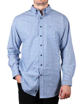 Noble Outfitters Men's Plaid Long Sleeve Shirt, Blue, hi-res