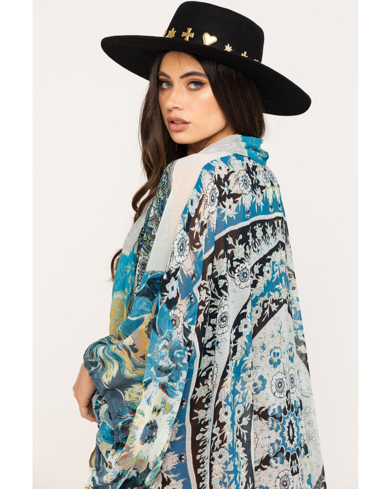 Free People Women's Mixed Print Keeping Up With The Kimono, , hi-res