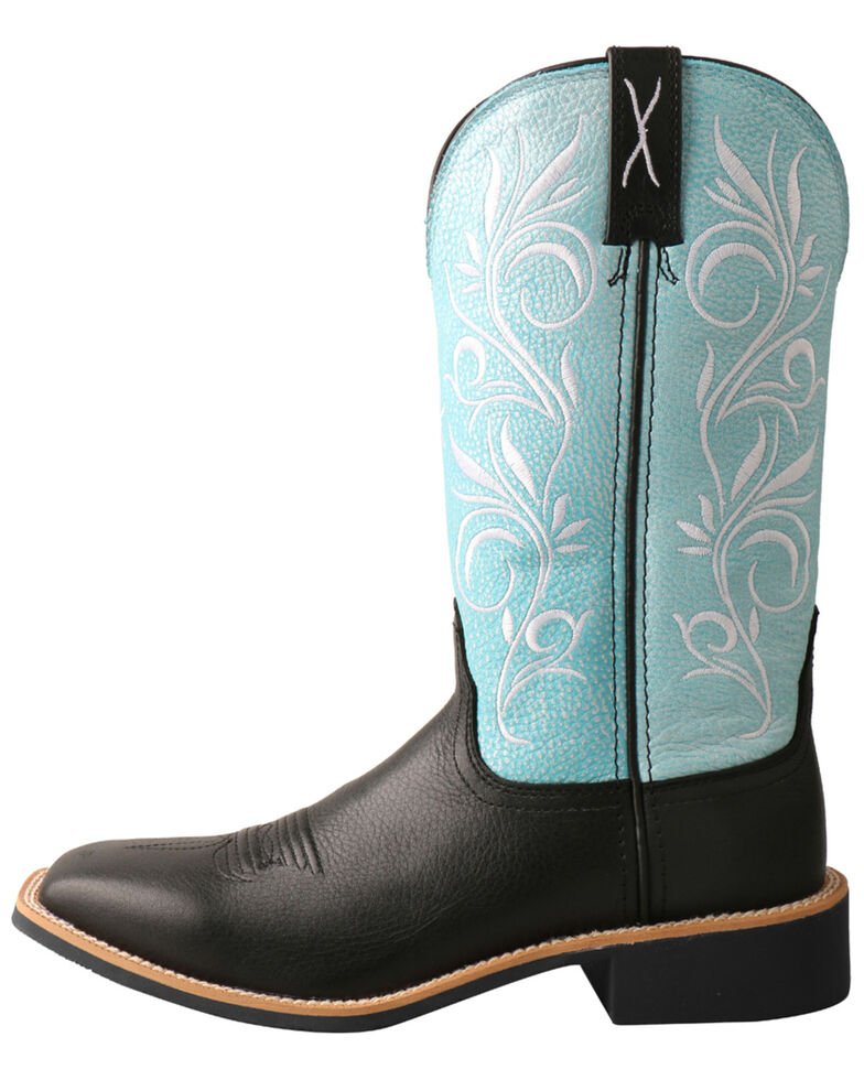 Twisted X Women's Top Hand Western Boots - Wide Square Toe, Black, hi-res