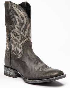 Cody James Men's Black Macho Sicario Western Boots - Wide Square Toe, Grey, hi-res