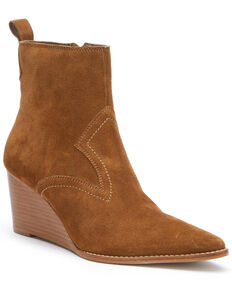 Matisse Women's Essentials Wedge Fashion Booties - Pointed Toe, Tan, hi-res