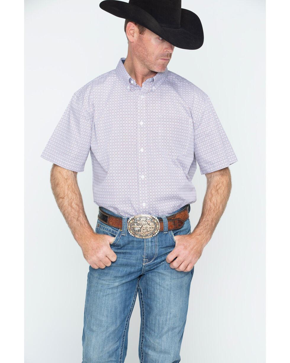 Cody James Men's Cliff Print Short Sleeve Button Down Shirt, Red, hi-res