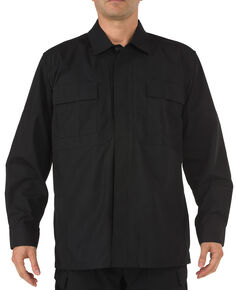 5.11 Tactical Ripstop TDU Long Sleeve Shirt - 3XL and 4XL, Black, hi-res