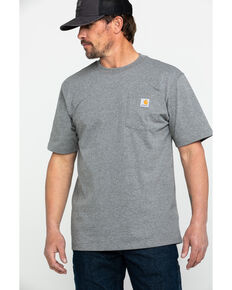 Carhartt Men's C-Logo Graphic Pocket Work T-Shirt - Big , Charcoal, hi-res