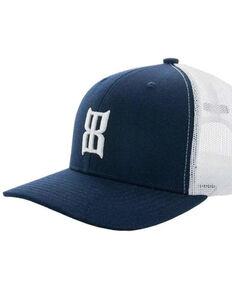 Bex Men's Navy Steel Icon Logo Mesh-Back Ball Cap , Navy, hi-res