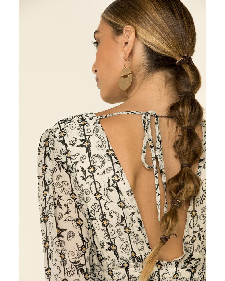 Nostalgia Women's Ivory Floral Gold Foil Floral Dress, Ivory, hi-res