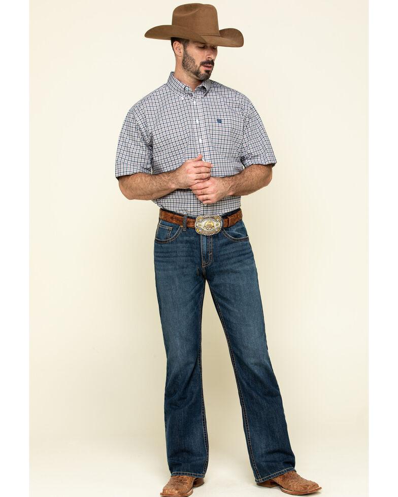 Cinch Men's Multi Small Plaid Weave Button Short Sleeve Western Shirt - Big , Multi, hi-res