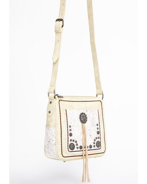 Shyanne Women's Floral Tooled Concho Crossbody Bag, Beige/khaki, hi-res