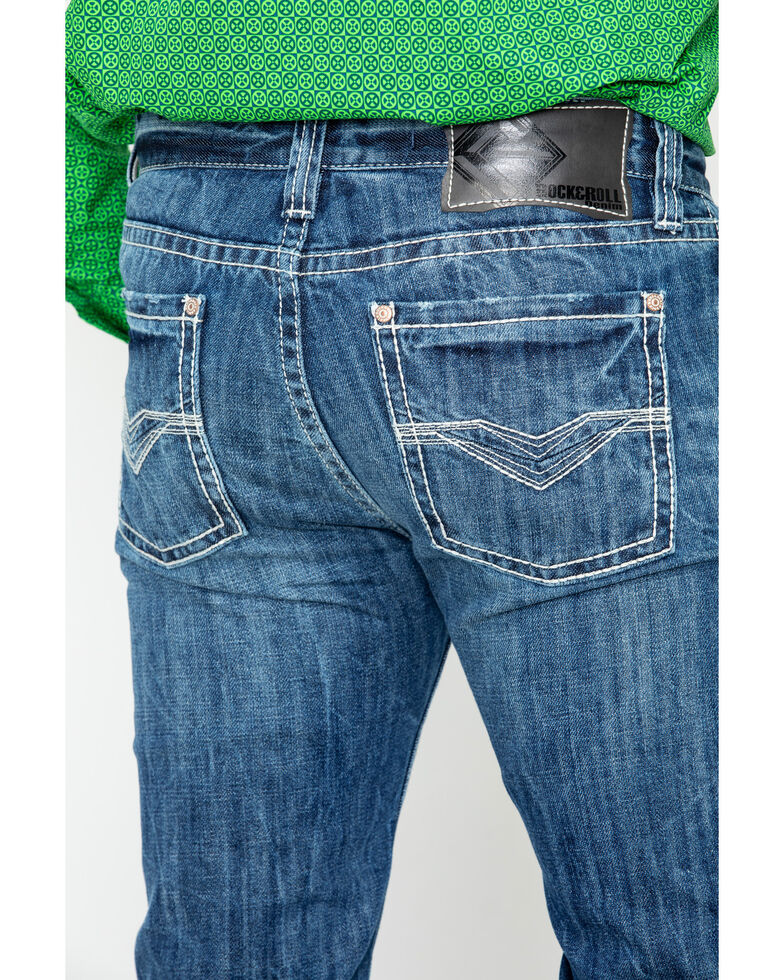 Rock & Roll Cowboy Men's Revolver Slim Straight Jeans, Blue, hi-res