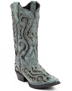 Laredo Women's Wild Thang Western Boots - Snip Toe, Turquoise, hi-res