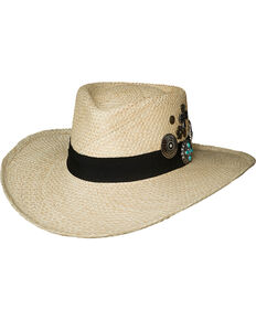 Bullhide Women's Natural Wild As You Straw Hat , Natural, hi-res