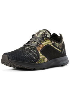 Ariat Men's Camo Mesh Fuse Olive Shoes - Round Toe, Olive, hi-res