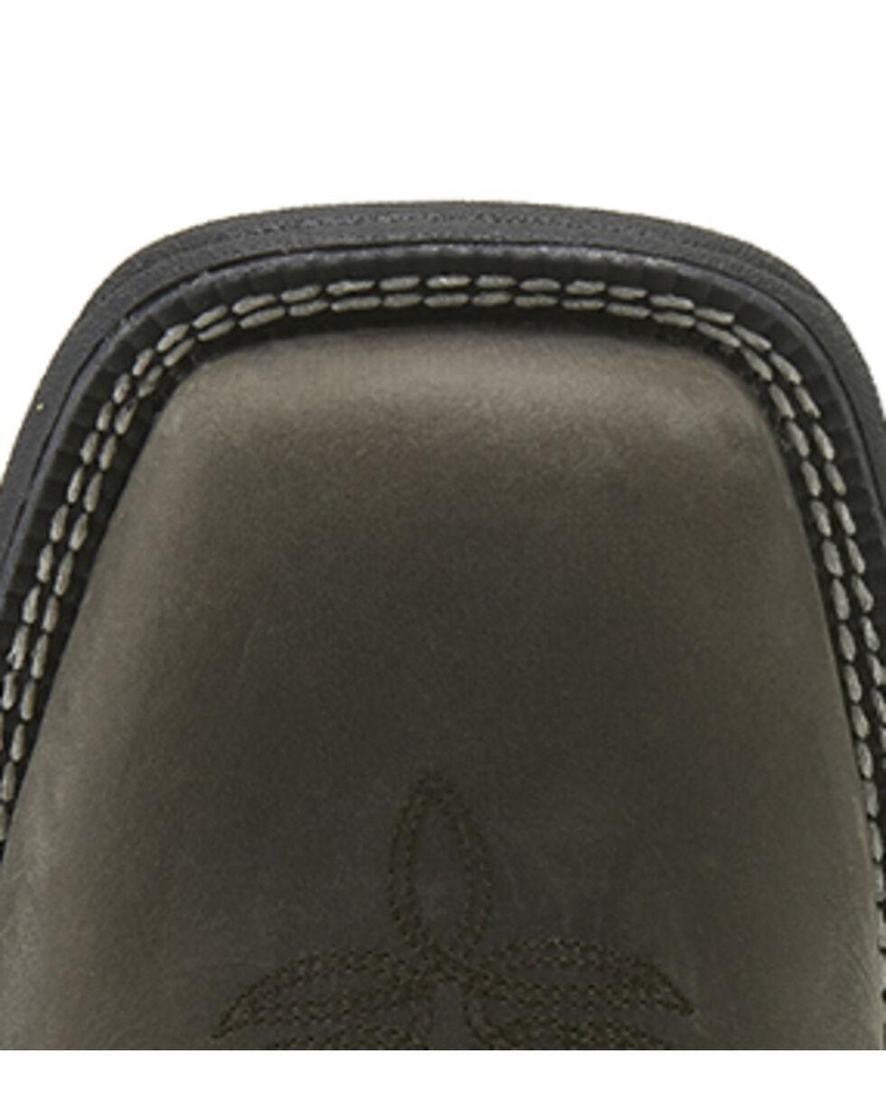 Justin Men's Stampede Rush Western Work Boots - Steel Toe, Grey, hi-res