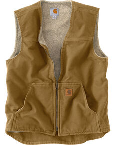 Carhartt Rugged Work Vest, Light Brown, hi-res