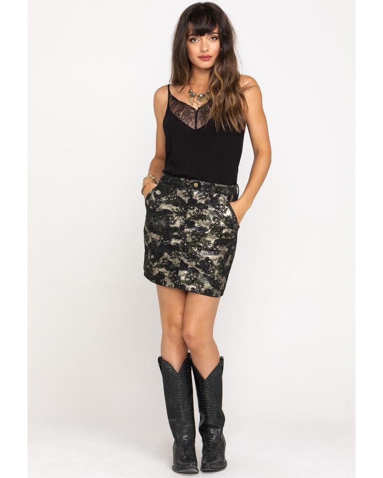 Molly Bracken Women's Print Mini Skirt, Gold, hi-res