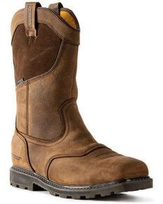 DeWalt Men's Stanton Waterproof Western Work Boots - Steel Toe, Brown, hi-res