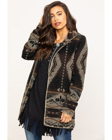Outback Trading Co. Women's Brown Aztec Moree Jacket, Brown, hi-res