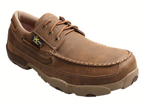 Twisted X  Men's Driving Mocs - Steel Toe, Bomber, hi-res