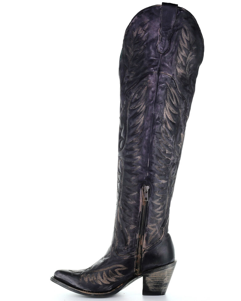 dc1ab2f5e39 Corral Women's Black Embroidery Tall Western Boots - Snip Toe