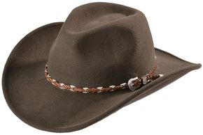 Outback Trading Co. Brown Wallaby UPF50 Sun Protection Crushable Hat, Brown, hi-res
