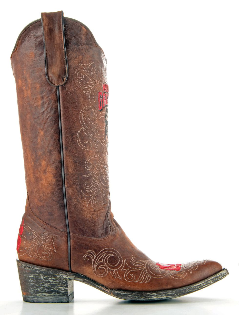 Gameday University of Montana Cowgirl Boots - Pointed Toe, Brass, hi-res