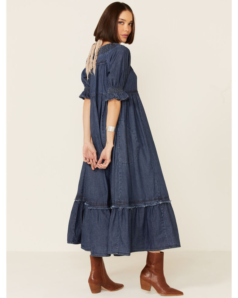 Free People Women's One And Only Midi Dress, Dark Blue, hi-res