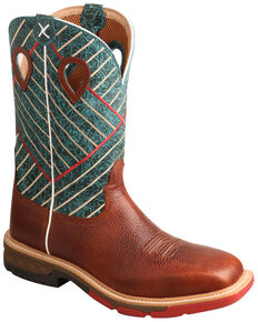 Twisted X Men's CellStretch Western Work Boots - Alloy Toe, Cognac, hi-res