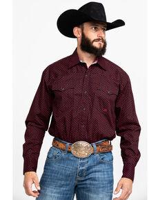 Roper Men's Four Star Foulard Geo Print Long Sleeve Western Shirt , Black, hi-res