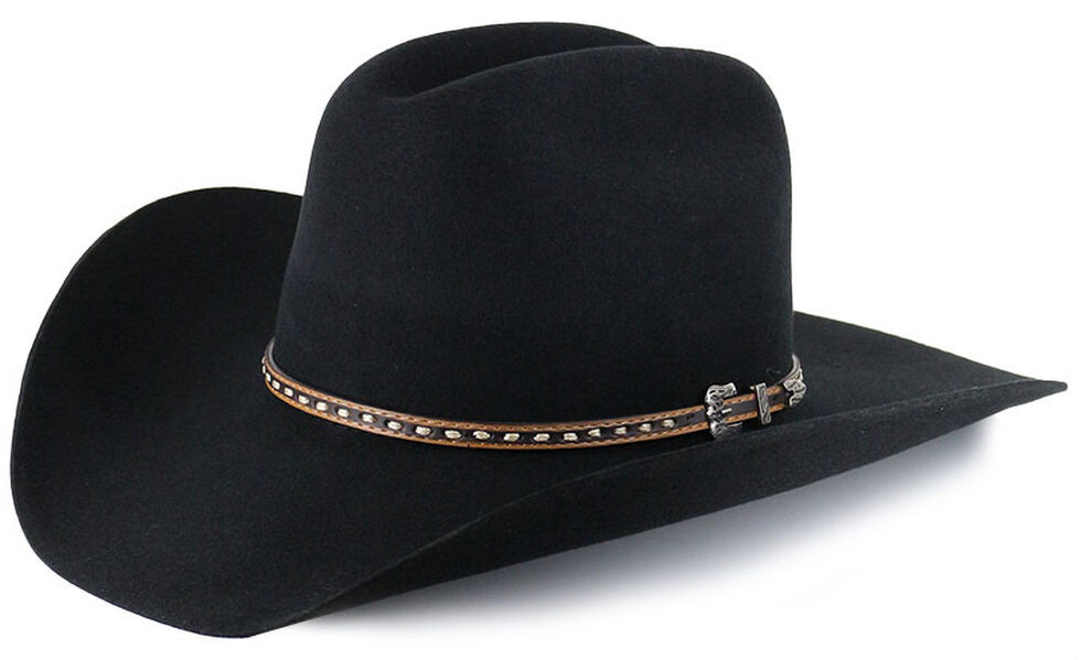 Cody James Men's 3X Wool Felt Cowboy Hat, Black, hi-res