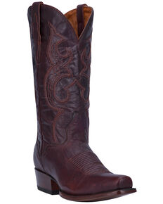 El Dorado Men's Handmade Chocolate Goatskin Cowboy Boots - Snip Toe, Chocolate, hi-res