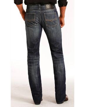 Rock & Roll Cowboy Men's Vintage Wash Revolver Slim Straight Leg Jeans, Indigo, hi-res