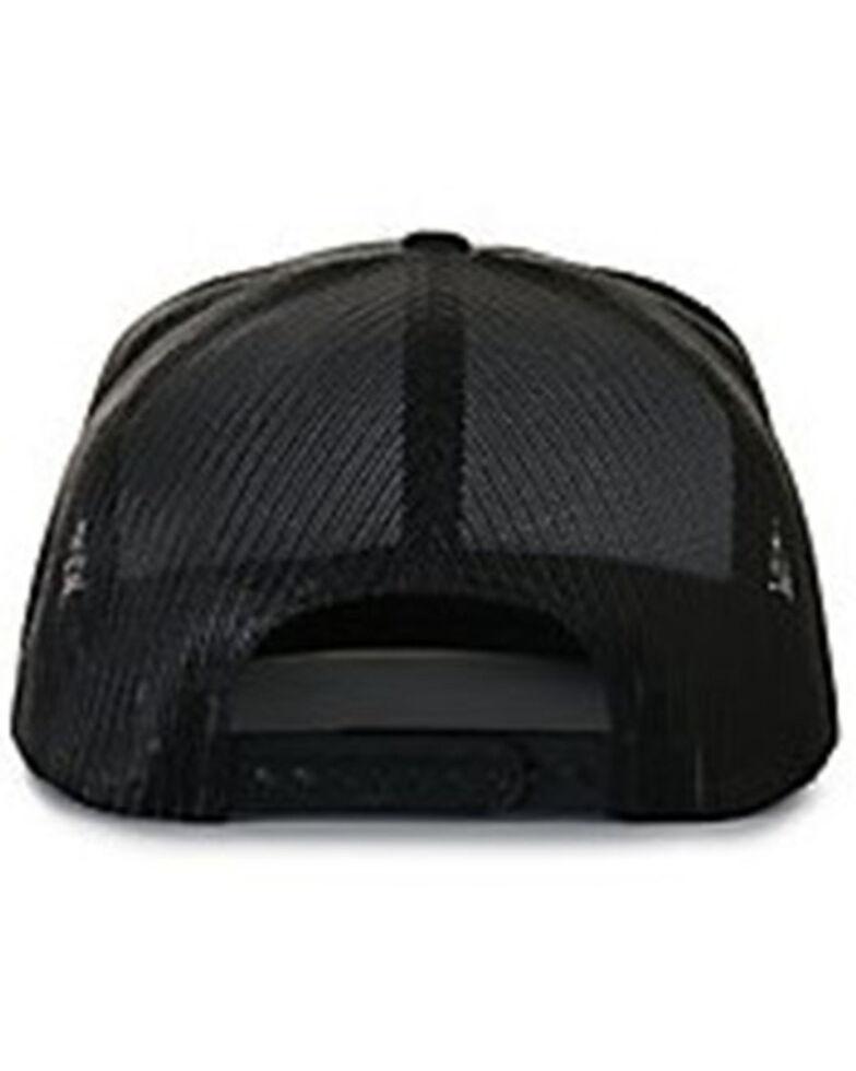 Lazy J Ranchwear Men's Red Ranch Logo Patch Soft-Mesh Ball Cap , Black, hi-res