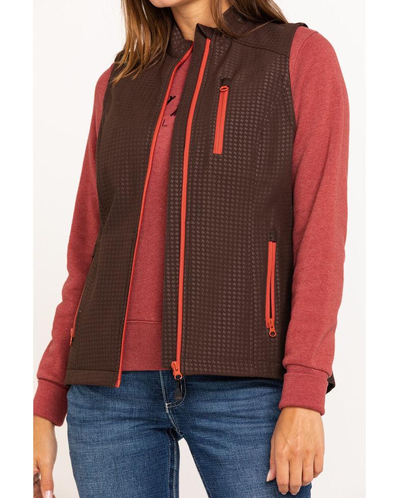 Shyanne Life Women's Brown Softshell Vest, Dark Brown, hi-res