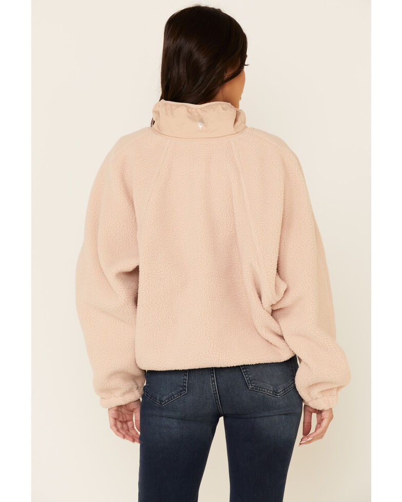 Free People Women's Hit The Slopes Pullover, Blush, hi-res