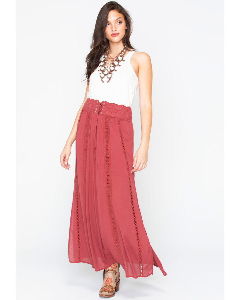 91e11b2023c Shyanne Women s Tie-Off Corset Maxi Skirt - Country Outfitter