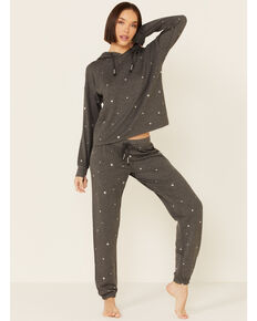 PJ Salvage Women's Shining Star Sweatpants, Charcoal, hi-res