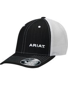 8267db803f4 Ariat Mens Black Pinstripe Pattern Baseball Cap