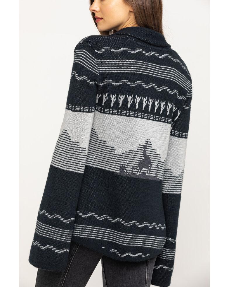 Powder River Outfitters Women's Cactus & Bronco Cardigan, Black, hi-res