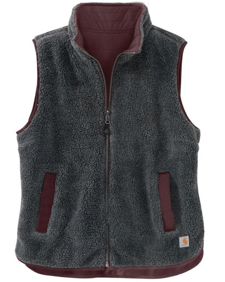 Carhartt Women's Utility Sherpa Lined Vest , Wine, hi-res