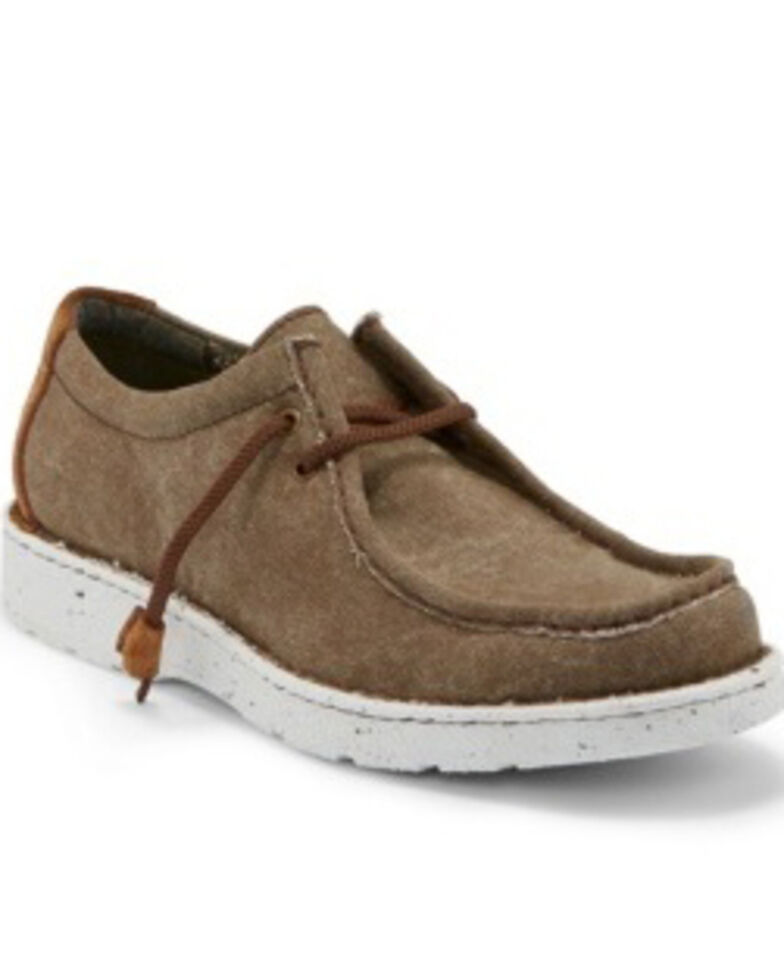 Justin Men's Honcho Clay Lace-Up Shoes - Moc Toe, Brown, hi-res