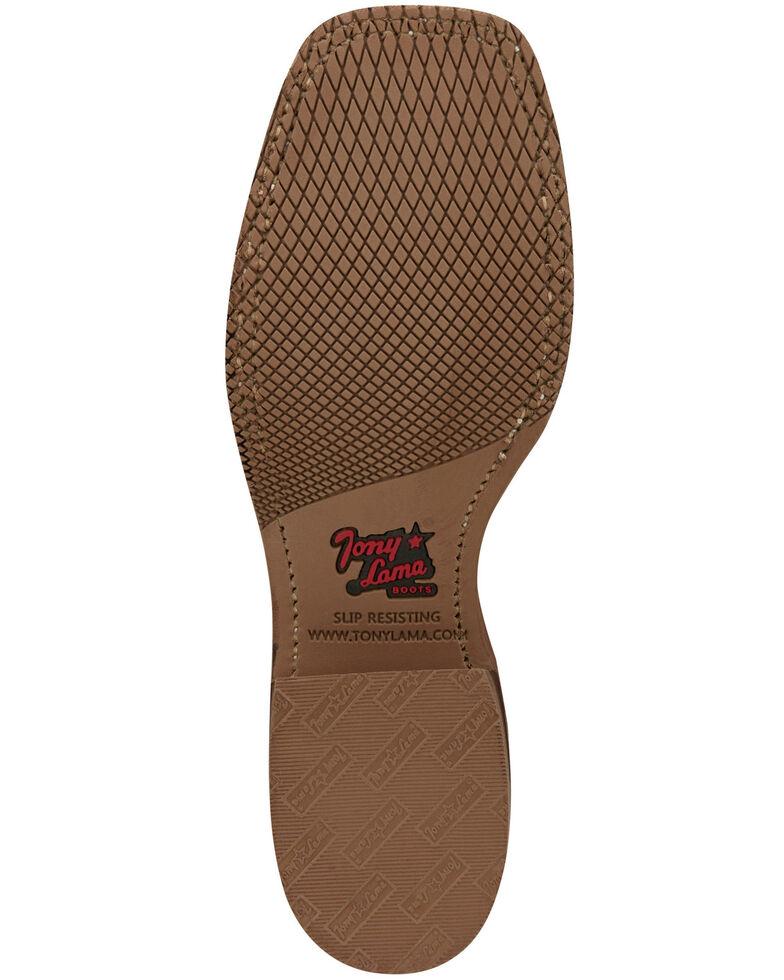 Tony Lama Women's Atchison Latte Western Boots - Wide Square Toe, Tan, hi-res