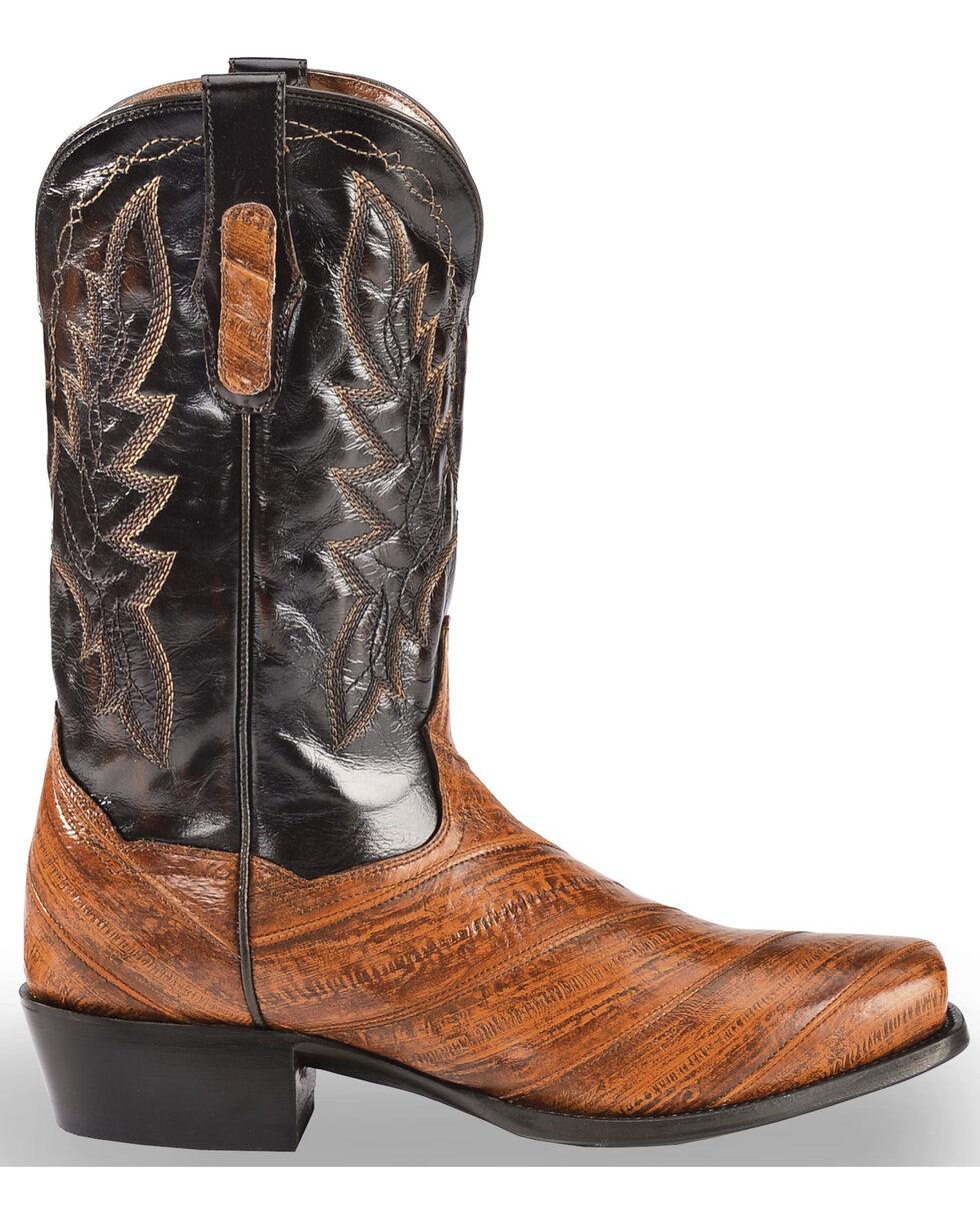 Dan Post Men's Two Tone Eel Cowboy Boots - Square Toe, Rust Copper, hi-res